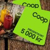 Vinn presentkort på 5.000 kr till Coop